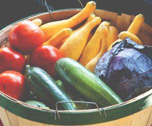 basket full of colorful vegetables