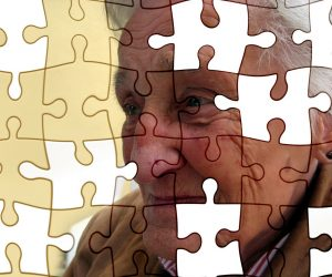 jigsaw puzzle picture of an old woman