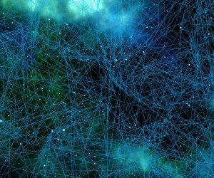 graphic image of a web or connected networks