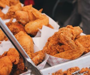 containers of fried chicken