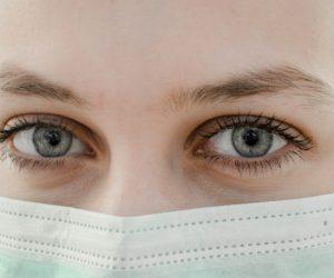 woman wearing a mouth guard