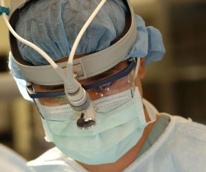 Surgeon performing surgery
