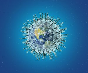 model of the earth as a virus