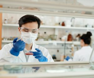 man working in a science lab