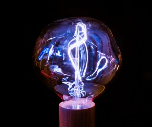 electrical bulb lit up