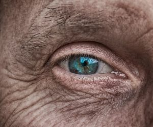 older person's eye
