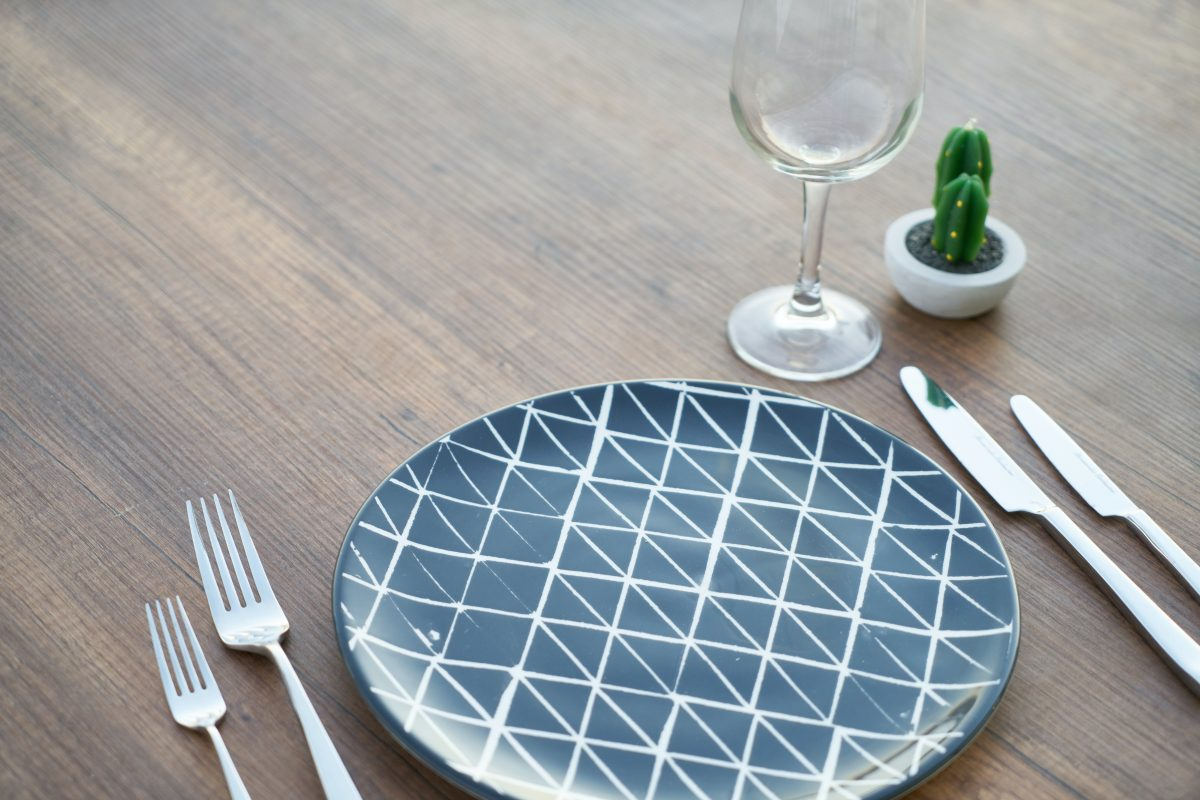 empty plate place setting on a table