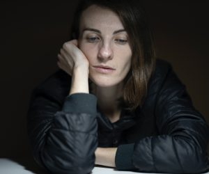 woman looking sad and depressed