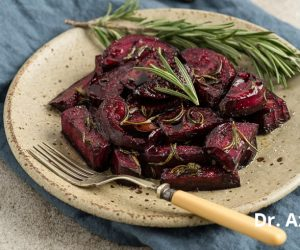 Roasted beets with a balsamic rosemary glaze