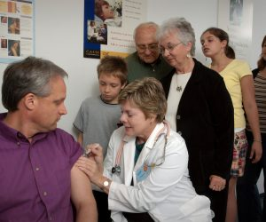 picture of a person getting a vaccination