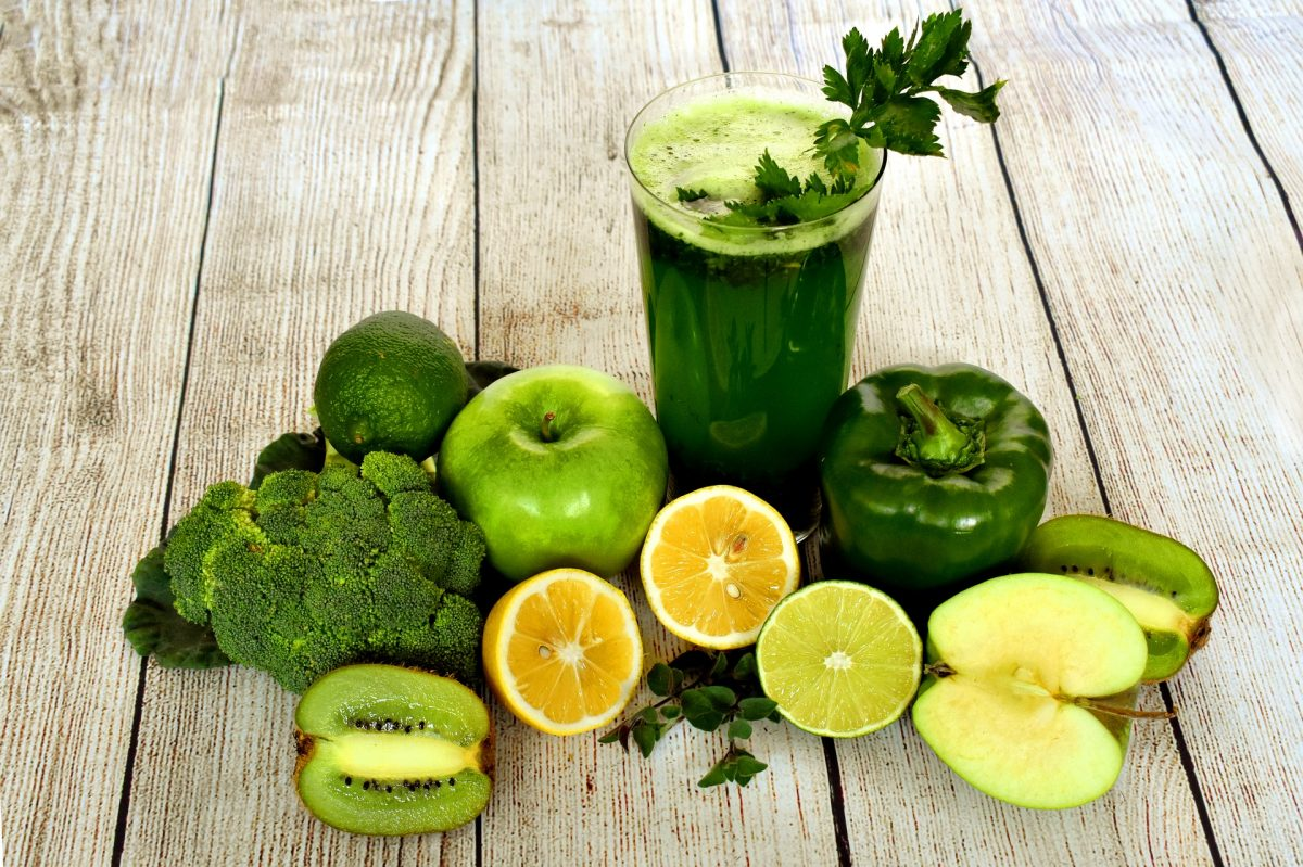 green vegetables and green smoothies