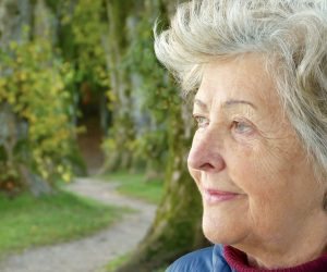 older women looking off into the distance