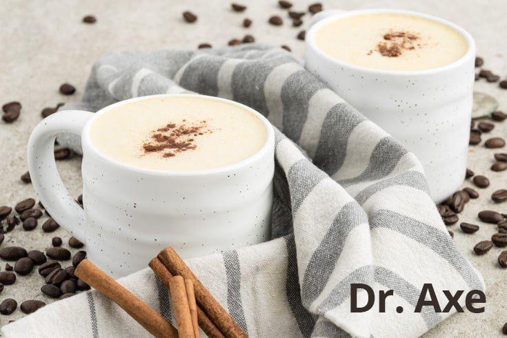 pumpkin spice lattes in white mugs