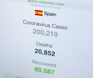 COVID-19 Death count in spain