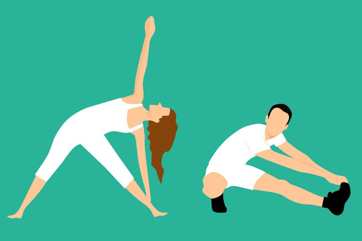 illustration of stretch poses