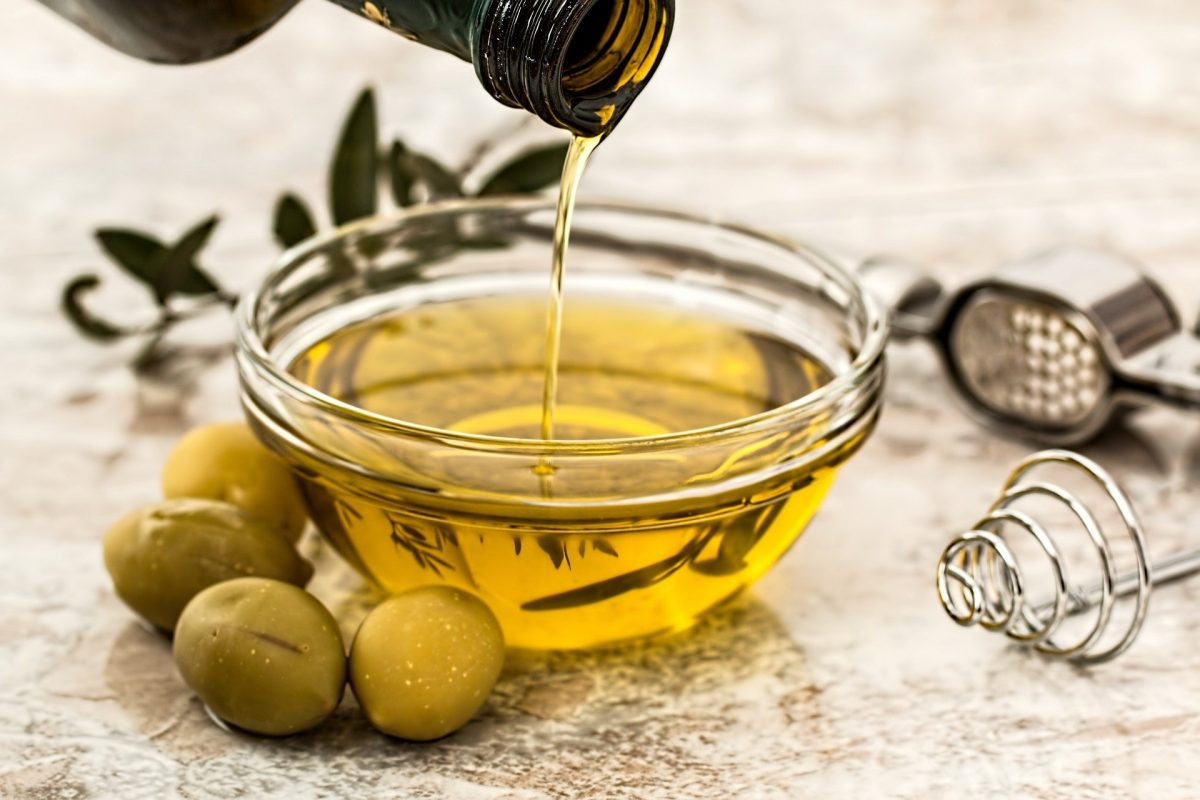 dish of olive oil