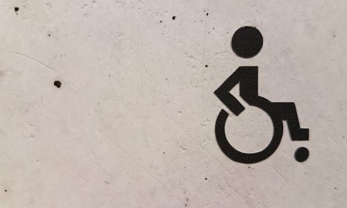 painted image of person in wheelchair
