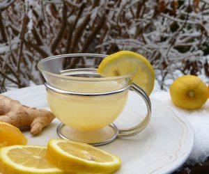 glass of ginger tea