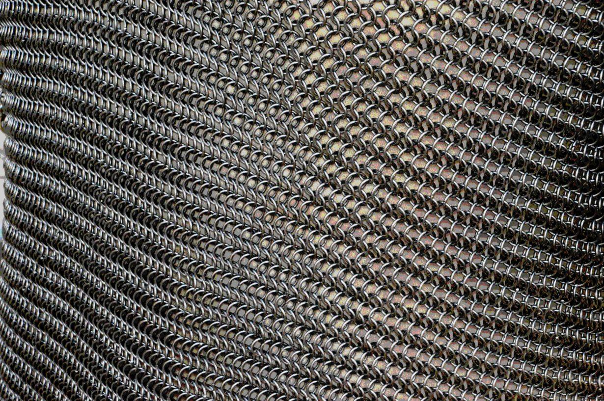 silver chainlink mesh