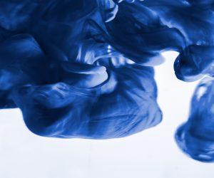 blue dye in water