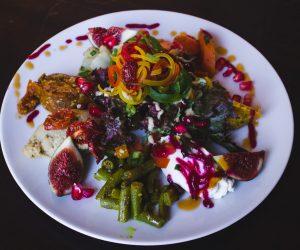plate of mediterranean food