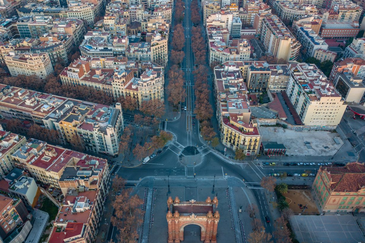 aerial view of Barcelona Spain