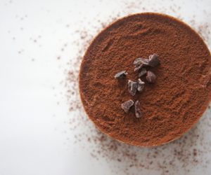 cup full of cocoa powder