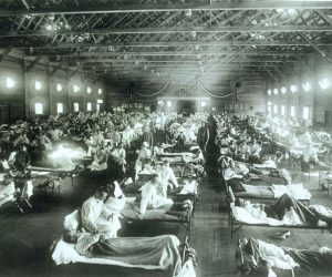 spanish flu makeshift hospital