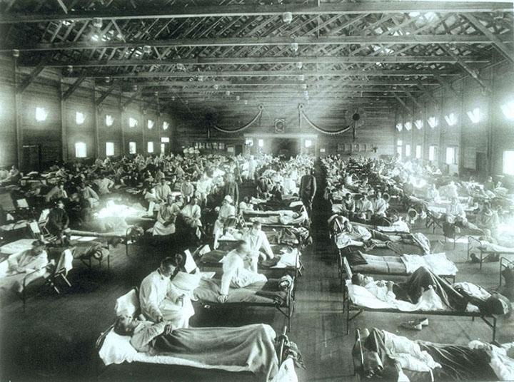 spanish flu makeshift hospital