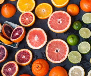 various citrus fruits sliced up