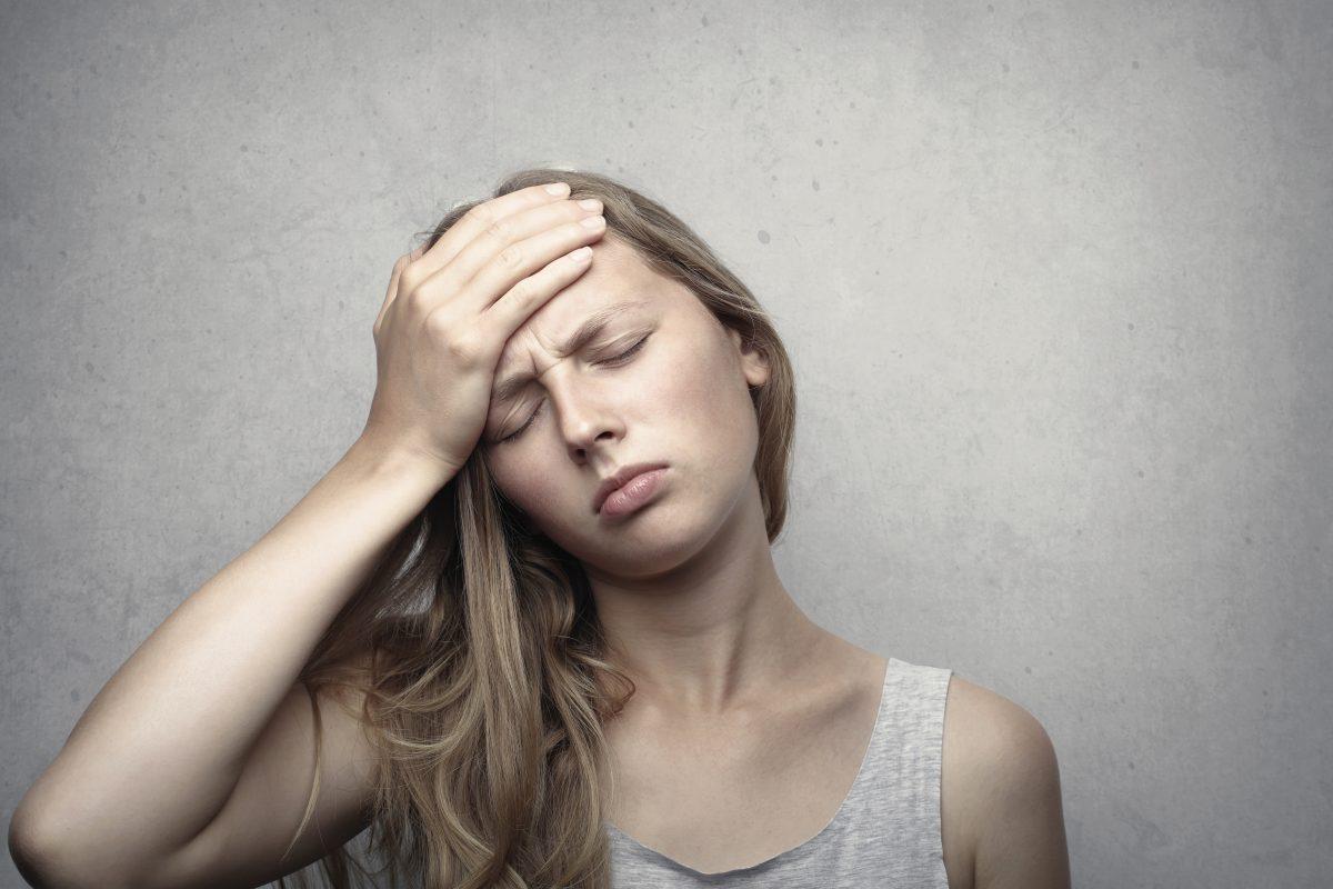 woman looking distressed