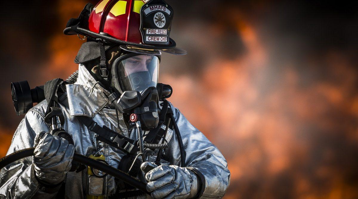 firefighter in a uniform