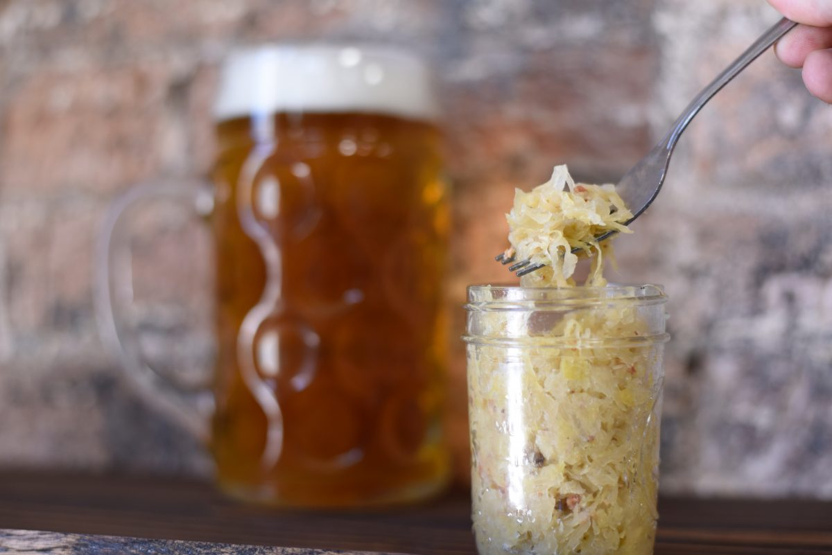jar of sauerkraut