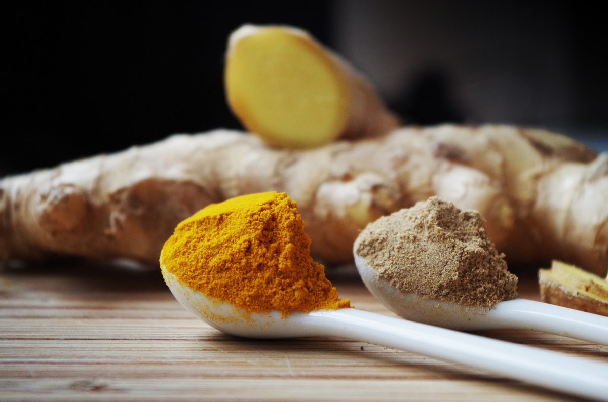 spoonful of turmeric and ginger