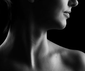 photo of a woman's neck and upper chest
