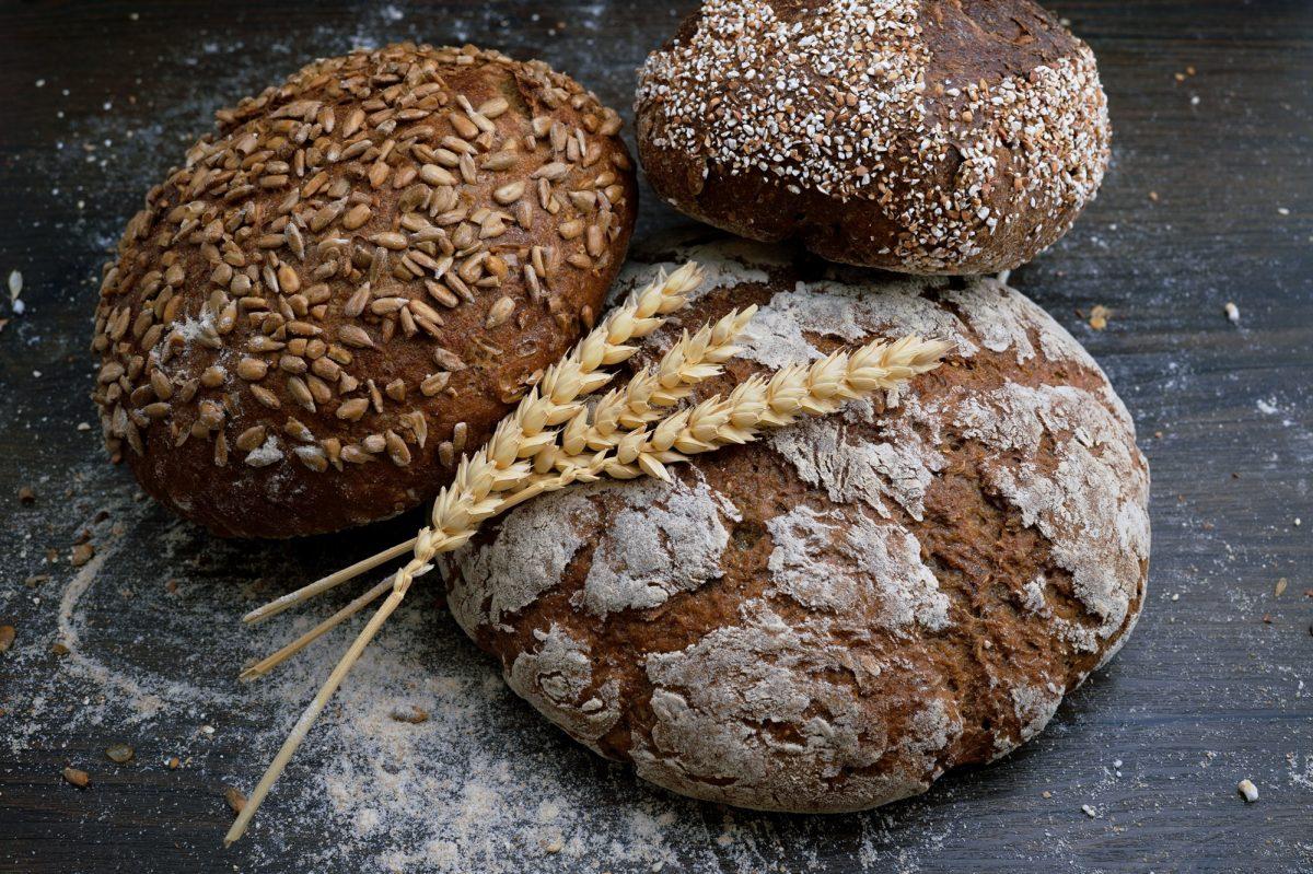 whole wheat bread loaves