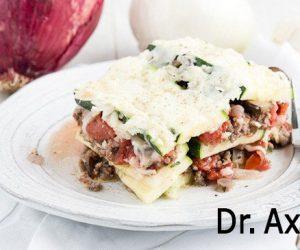 plate full of zucchini lasagna