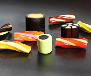 black licorice candies