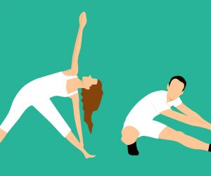illustration of stretch poses